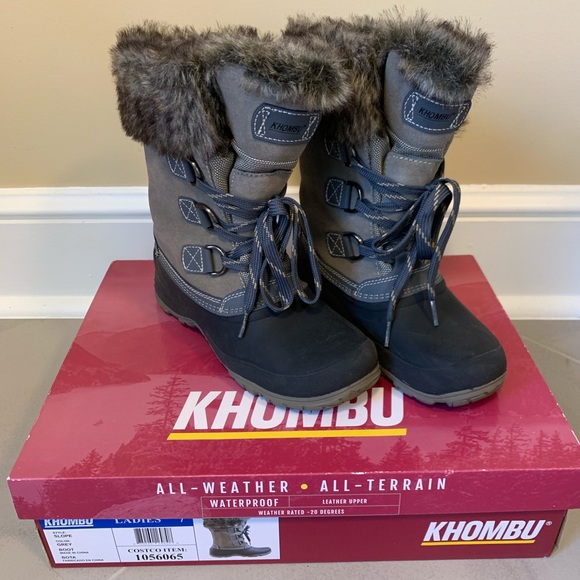 Details about Khombu Womens Slope All Terrain Snow Boots New Without Box (Black, 7)